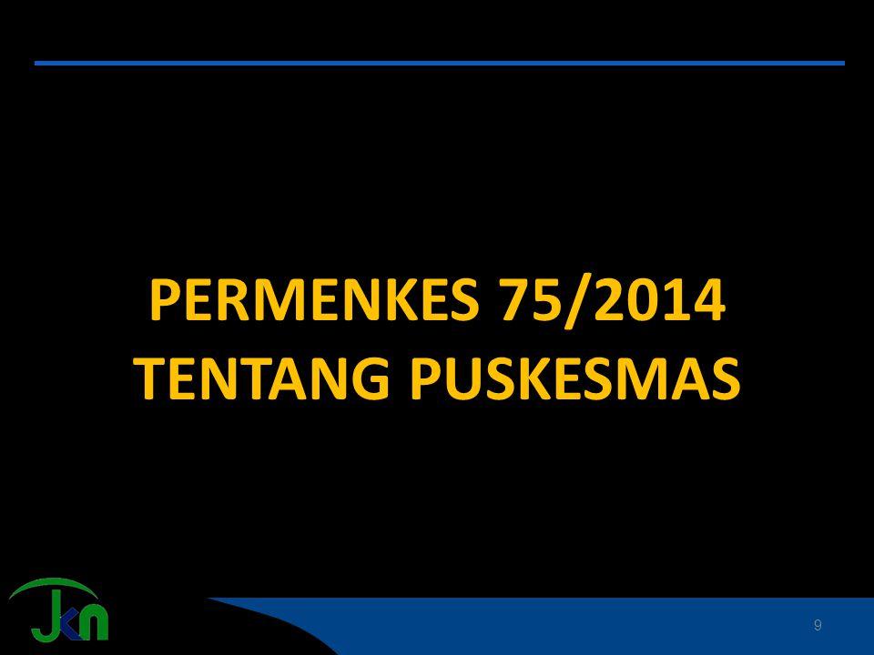 PERMENKES 75/2014 TENTANG PUSKESMAS