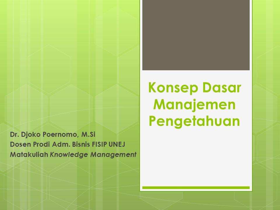 Konsep Dasar Manajemen Pengetahuan