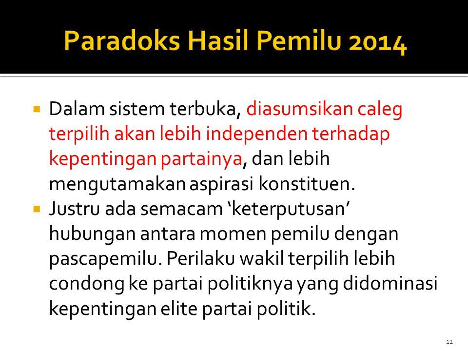 Paradoks Hasil Pemilu 2014