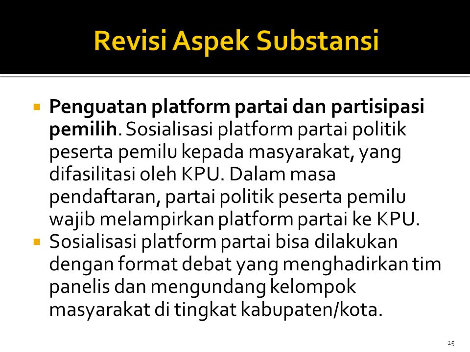 Revisi Aspek Substansi