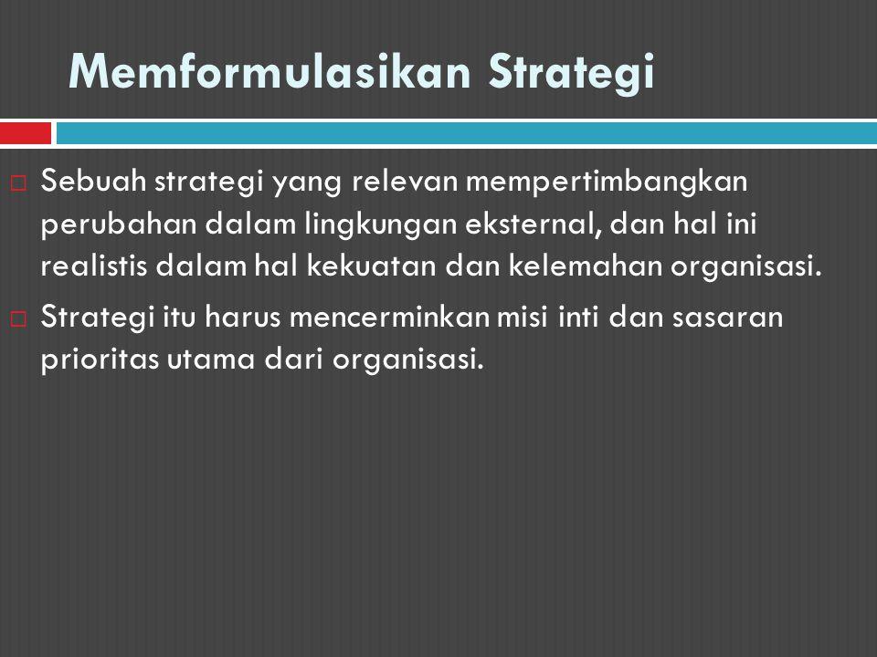 Memformulasikan Strategi