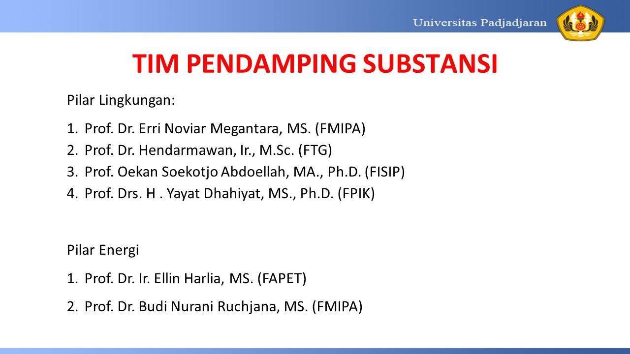 TIM PENDAMPING SUBSTANSI