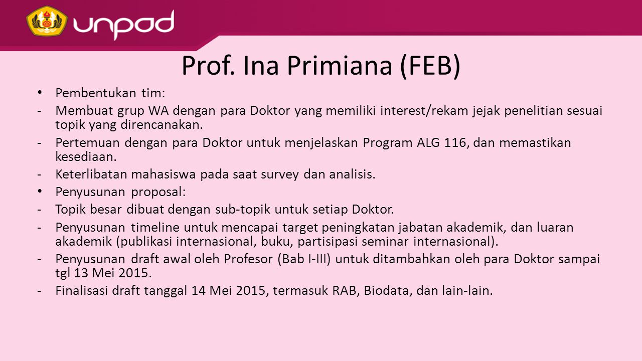 Prof. Ina Primiana (FEB)