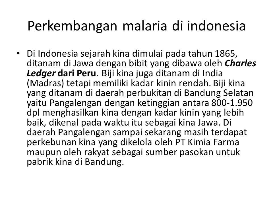 Perkembangan malaria di indonesia