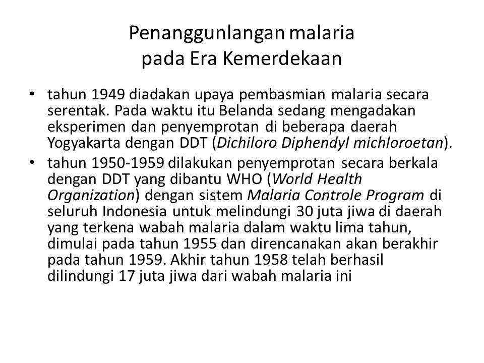 Penanggunlangan malaria pada Era Kemerdekaan