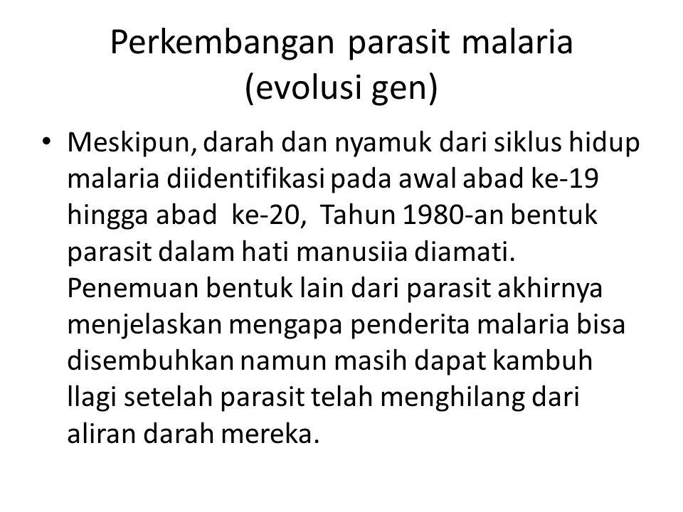 Perkembangan parasit malaria (evolusi gen)