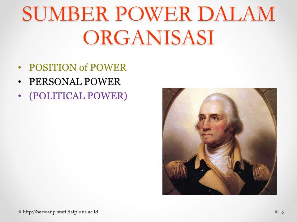 SUMBER POWER DALAM ORGANISASI