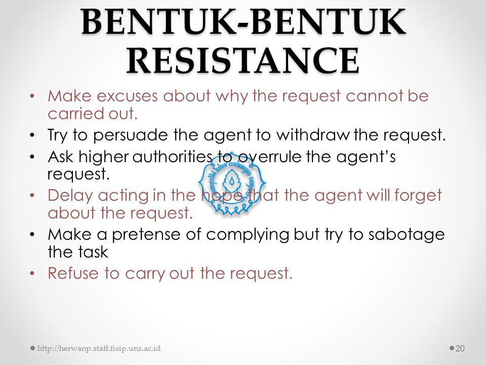 BENTUK-BENTUK RESISTANCE