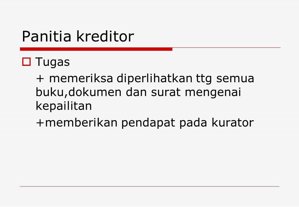 Panitia kreditor Tugas
