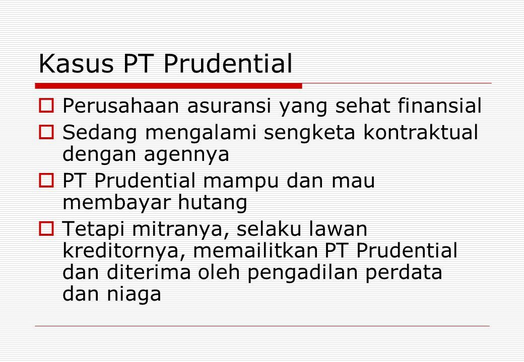 Kasus PT Prudential Perusahaan asuransi yang sehat finansial