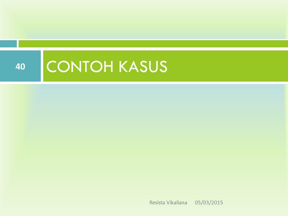 CONTOH KASUS Resista Vikaliana 05/03/2015