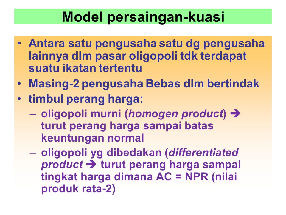 Model persaingan-kuasi