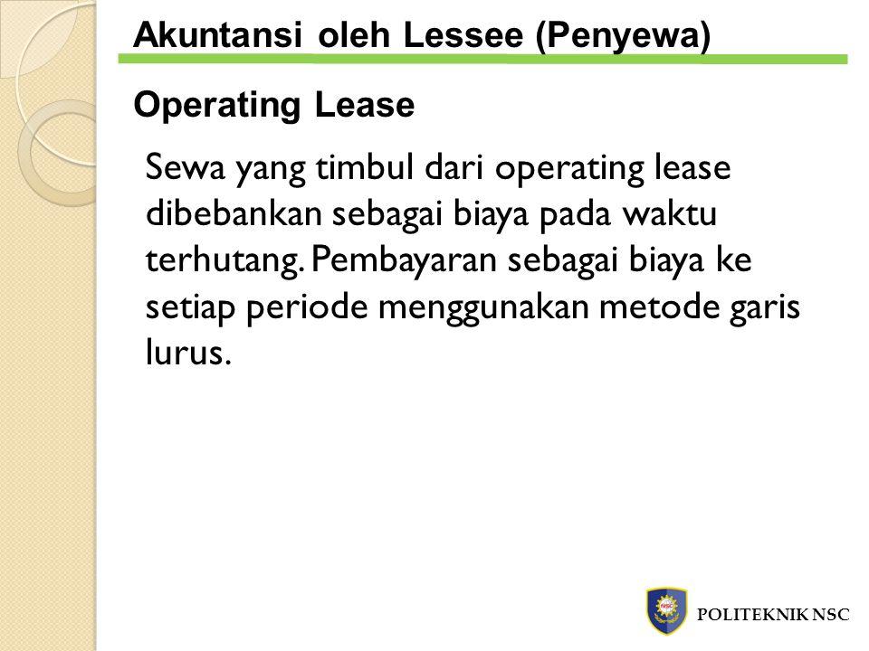 Akuntansi oleh Lessee (Penyewa)