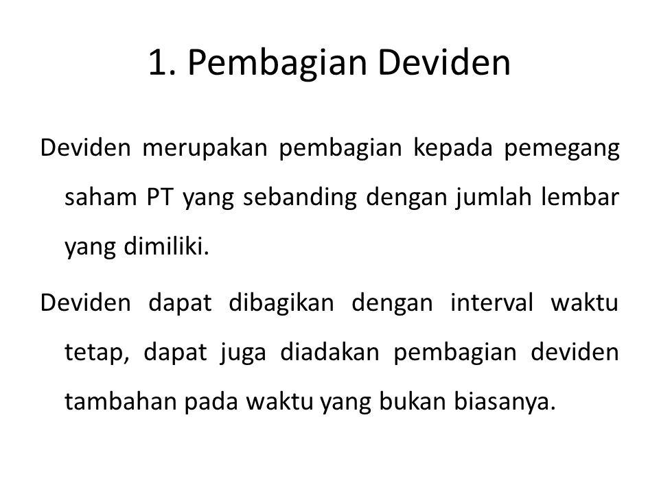 1. Pembagian Deviden