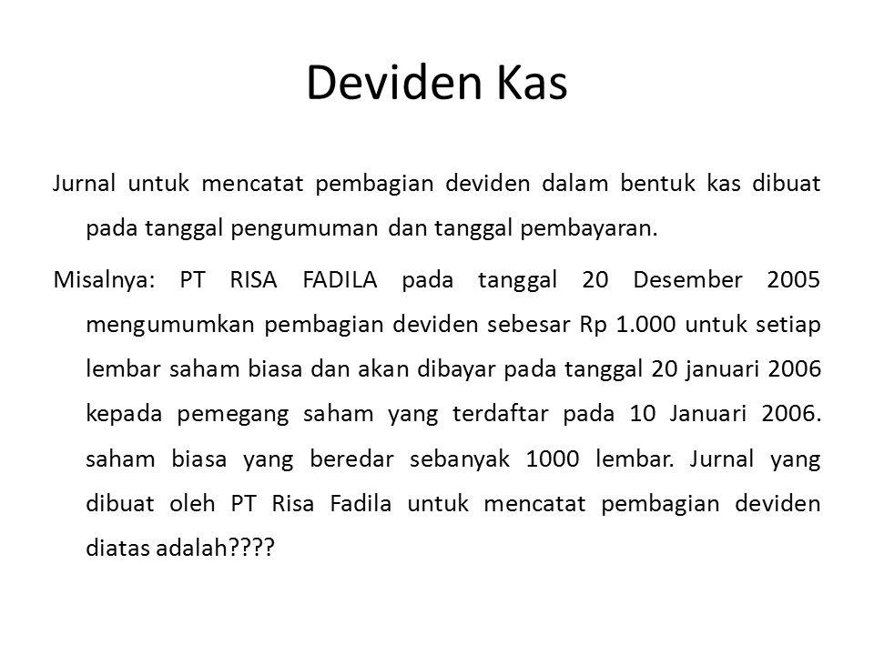 Deviden Kas