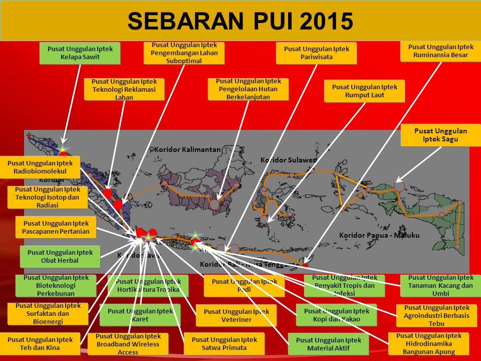 SEBARAN PUI 2015 Pusat Unggulan Iptek Sagu Koridor Kalimantan