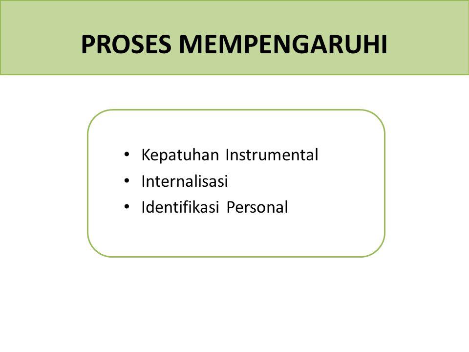 PROSES MEMPENGARUHI Kepatuhan Instrumental Internalisasi