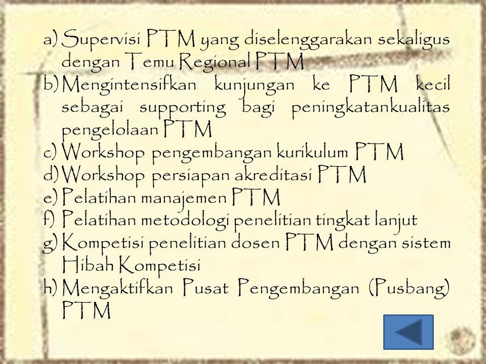 Supervisi PTM yang diselenggarakan sekaligus dengan Temu Regional PTM