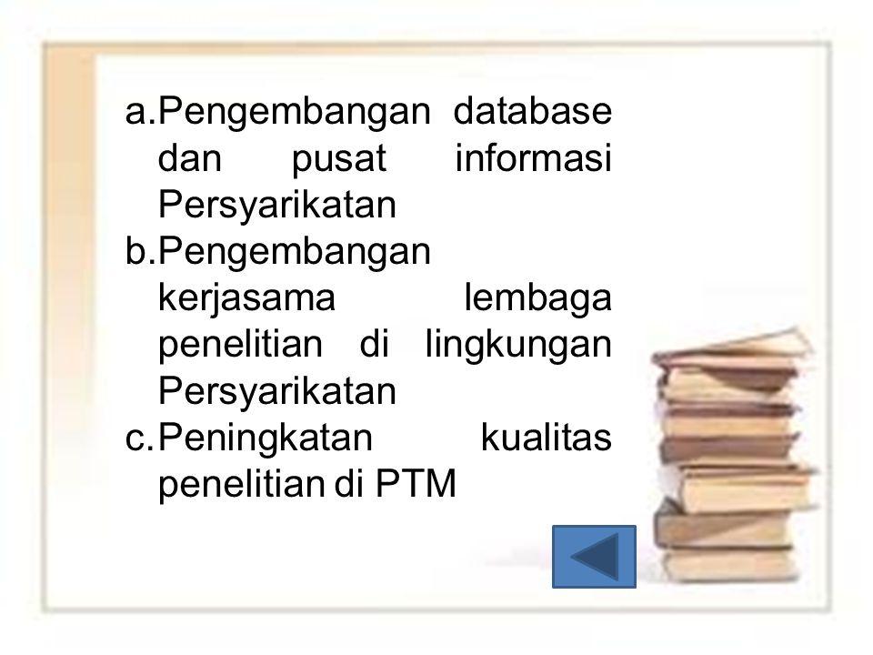 Pengembangan database dan pusat informasi Persyarikatan
