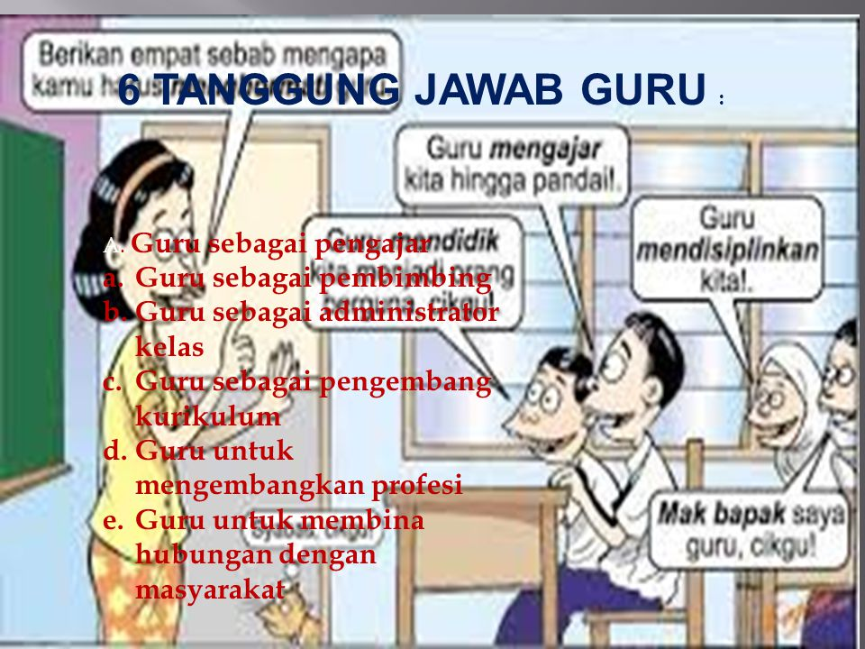 6 TANGGUNG JAWAB GURU : Guru sebagai pembimbing