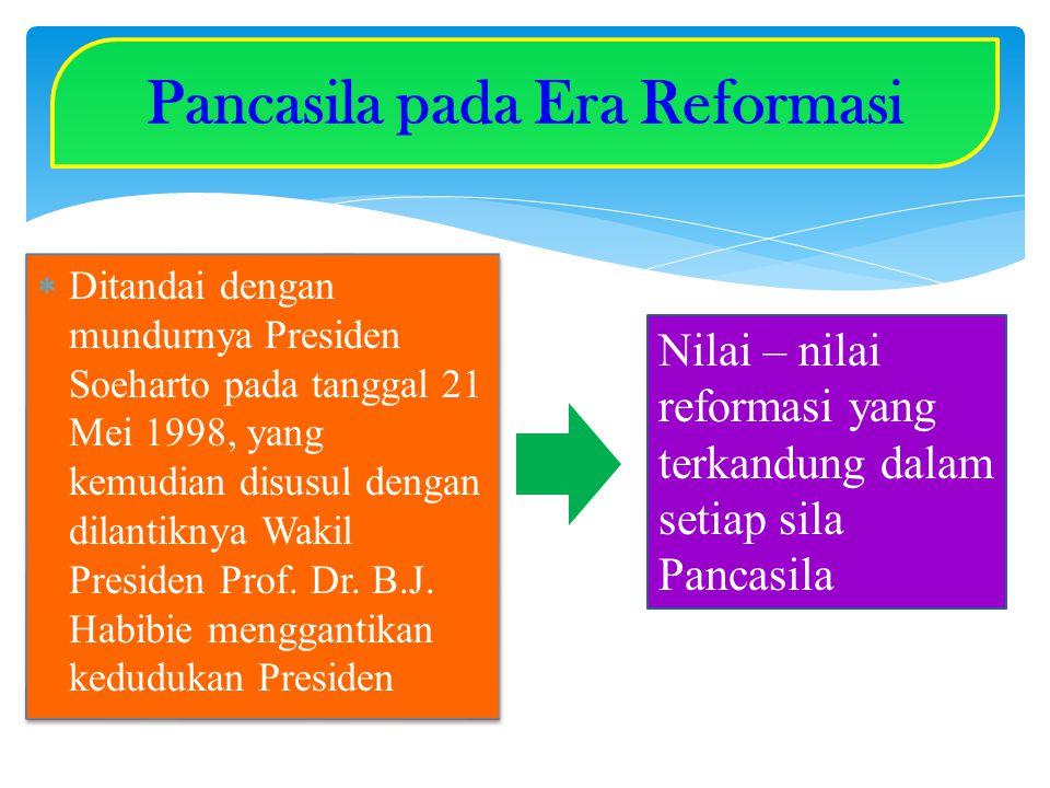 Pancasila pada Era Reformasi