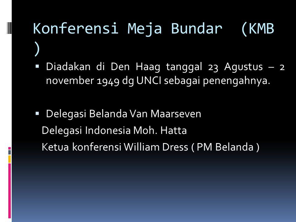 Konferensi Meja Bundar (KMB )