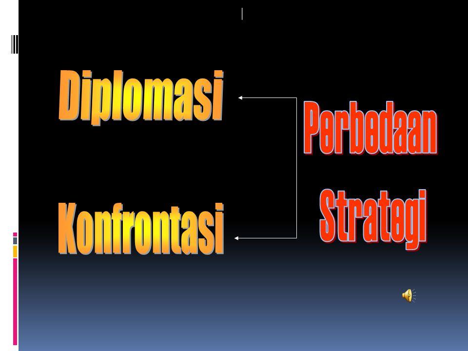 Diplomasi Perbedaan Strategi Konfrontasi