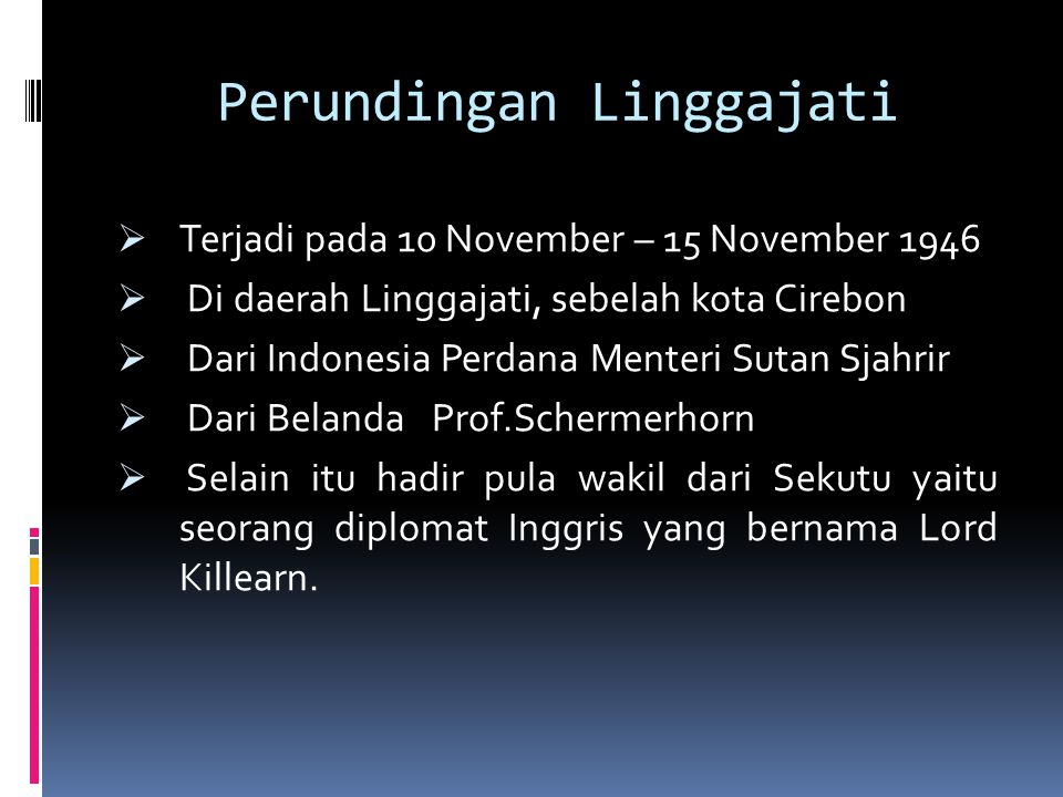 Perundingan Linggajati