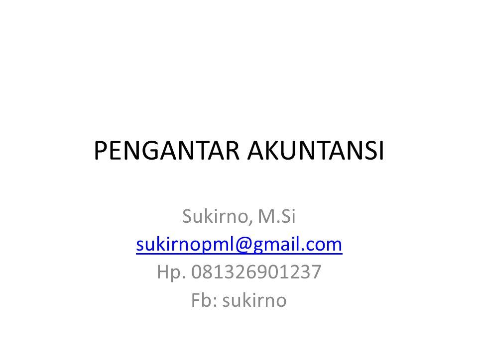 Sukirno, M.Si sukirnopml@gmail.com Hp. 081326901237 Fb: sukirno