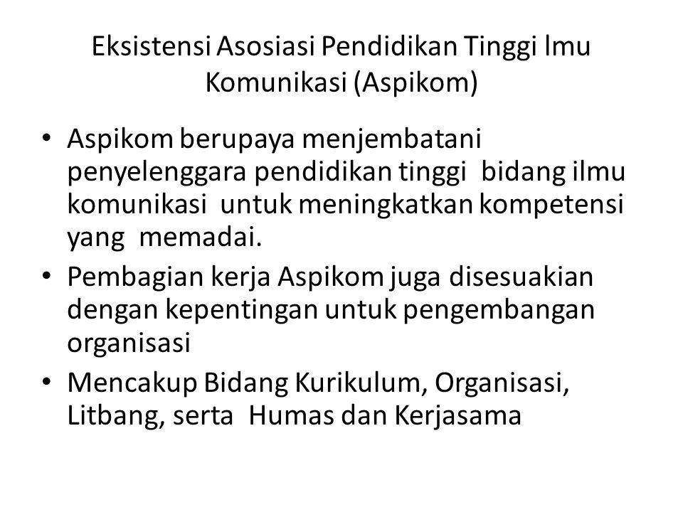 Eksistensi Asosiasi Pendidikan Tinggi lmu Komunikasi (Aspikom)