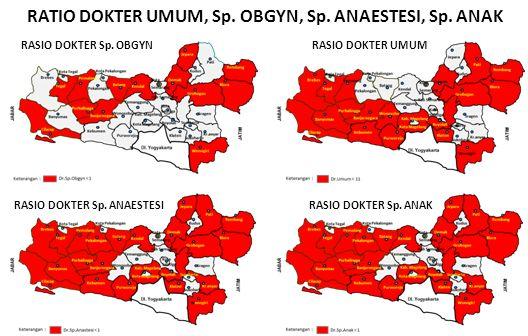 RATIO DOKTER UMUM, Sp. OBGYN, Sp. ANAESTESI, Sp. ANAK