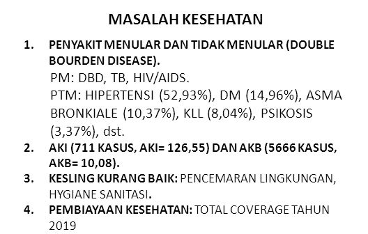 MASALAH KESEHATAN PM: DBD, TB, HIV/AIDS.