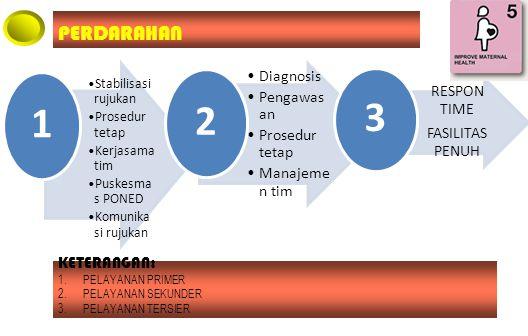 1 2 3 PERDARAHAN Diagnosis Pengawasan Manajemen tim RESPON TIME