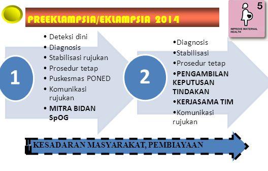 1 2 PREEKLAMPSIA/EKLAMPSIA 2014 Deteksi dini Diagnosis