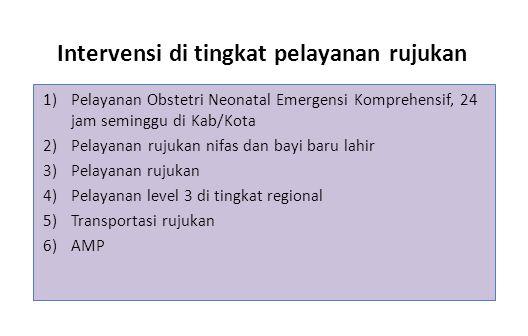 Intervensi di tingkat pelayanan rujukan