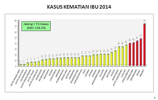 KASUS KEMATIAN IBU 2014 Jateng = 711 kasus (AKI= 126,55) 4