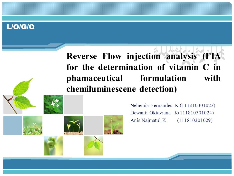 Reverse Flow injection analysis (FIA for the determination of vitamin C in phamaceutical formulation with chemiluminescene detection)