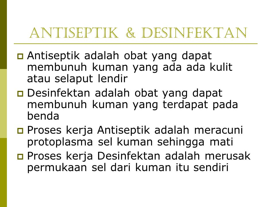 Antiseptik & Desinfektan