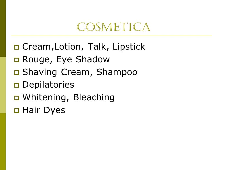 Cosmetica Cream,Lotion, Talk, Lipstick Rouge, Eye Shadow