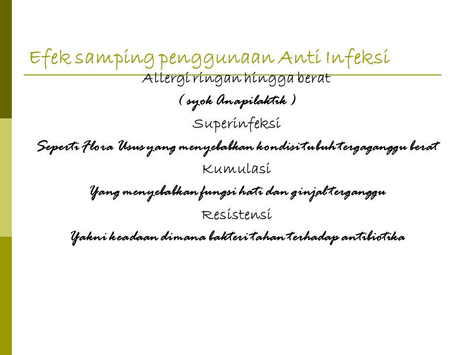 Efek samping penggunaan Anti Infeksi