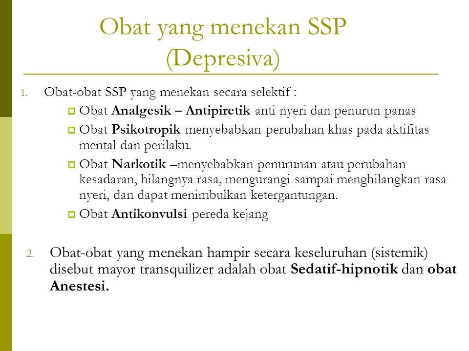 Obat yang menekan SSP (Depresiva)
