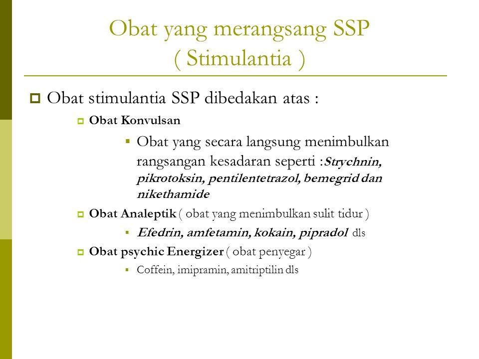 Obat yang merangsang SSP ( Stimulantia )