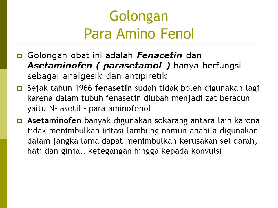 Golongan Para Amino Fenol