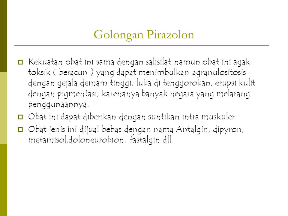 Golongan Pirazolon