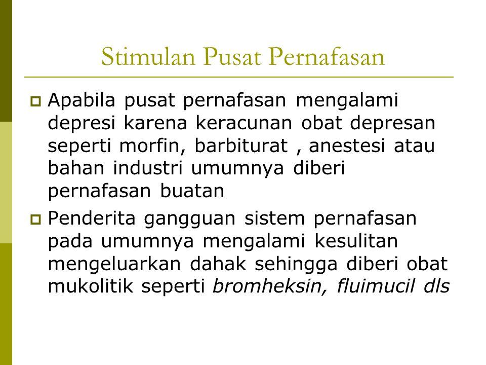Stimulan Pusat Pernafasan