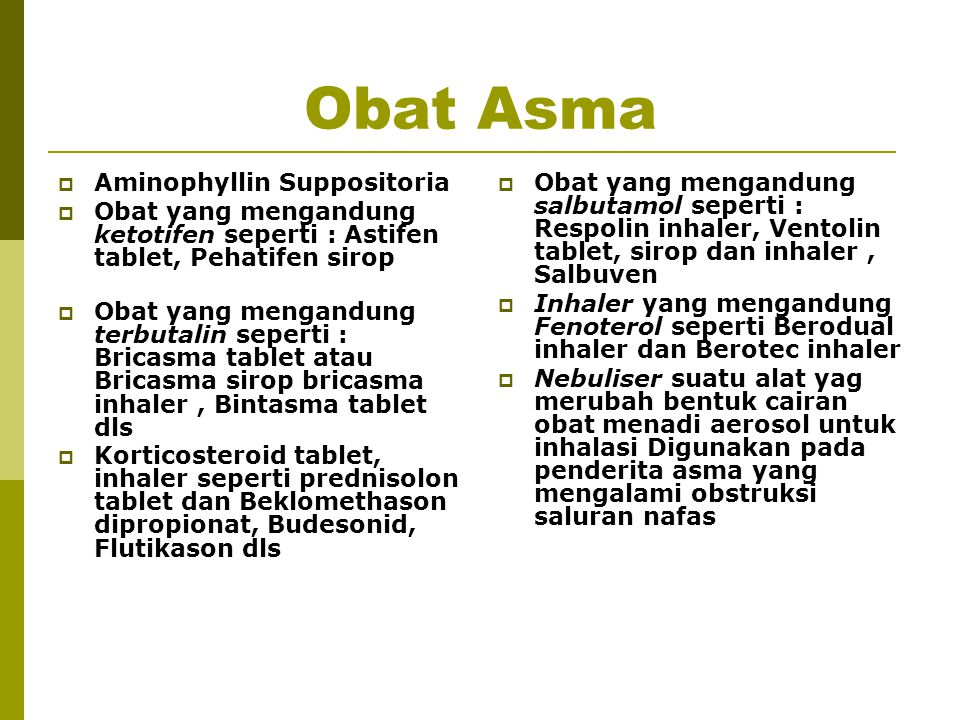 Obat Asma Aminophyllin Suppositoria