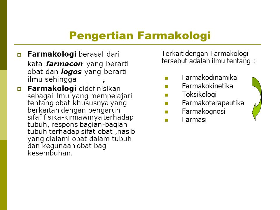 Pengertian Farmakologi