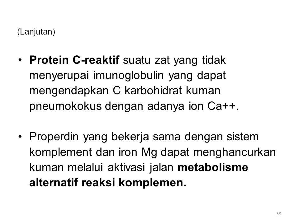 Protein C-reaktif suatu zat yang tidak