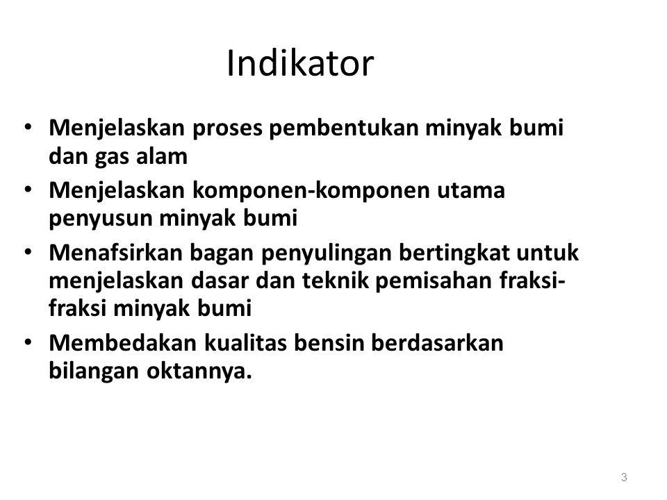 Indikator Menjelaskan proses pembentukan minyak bumi dan gas alam