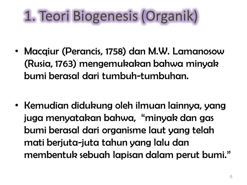 1. Teori Biogenesis (Organik)